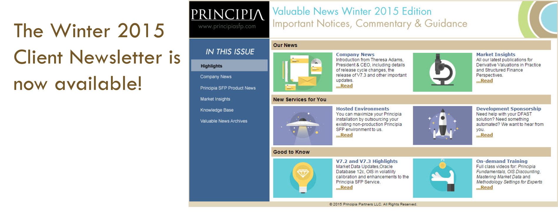 Winter 2015 Newsletter is Now Available!